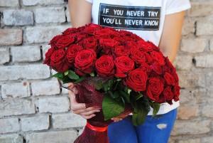 Dabar tik 75 eurai už 51vnt. rožių puokštę!!!