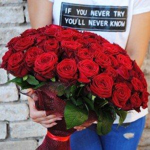 51vnt. rožių puokštė