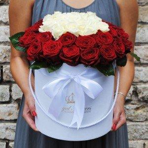 Raudonos ir baltos rožės AB/D