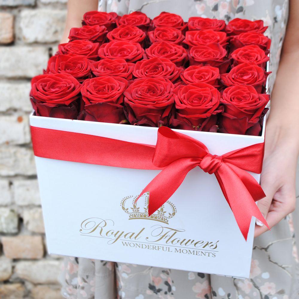 Kvadratinė gėlių dėžutė ''Myliu Tave''